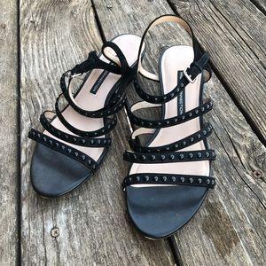 FRENCH CONNECTION Winneta Womens Sandals 8.5 Black